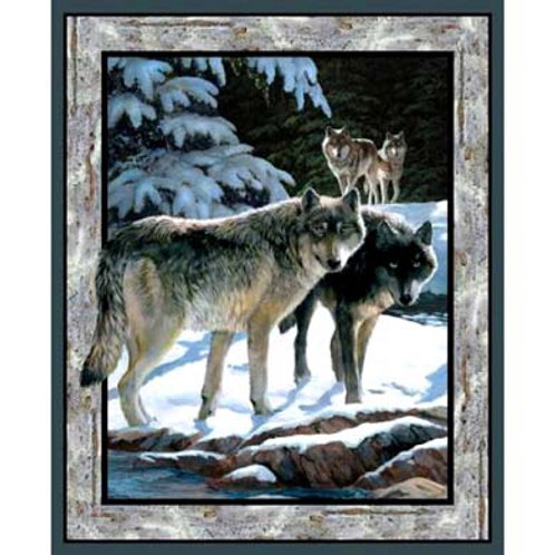 SC Silver Wolf Wall Panel