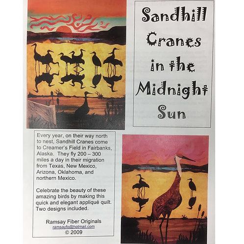 Sandhill Cranes in the Midnight Sun Pattern
