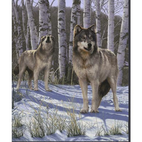 WF One of A Kind Snow Wolf Panel