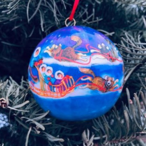 Dog Mushing Ornament