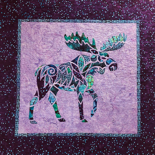 Alaska Mosaic Moose Quilt Kit