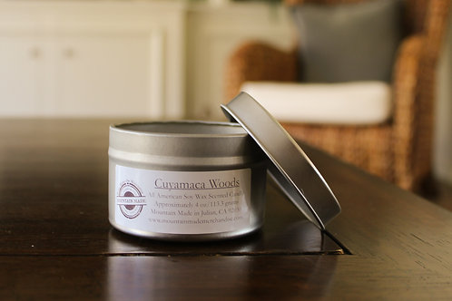 4 oz Soy Wax Candle Tin Set of 6