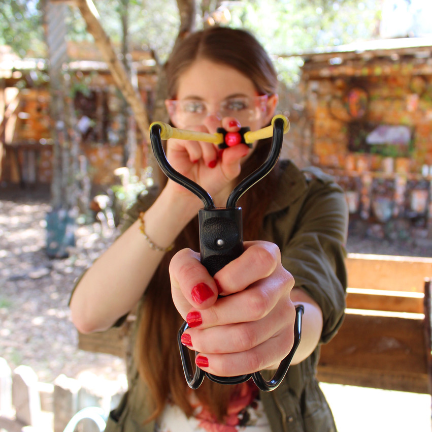 Have fun with slingshots at Fort Cross
