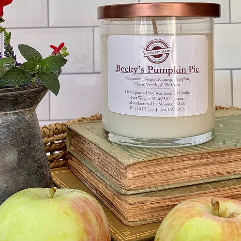 8 oz Becky's Pumpkin Pie Soy Candle