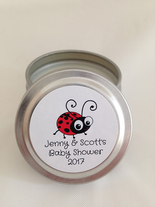 Hand-pour soy wax party favor candles made in Julian, CA