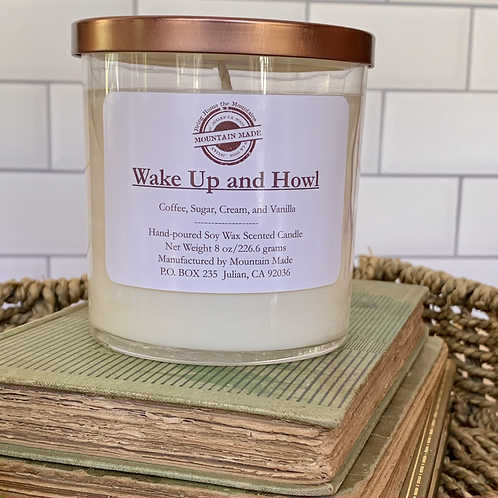 Wake Up and Howl 8 oz Soy Candle