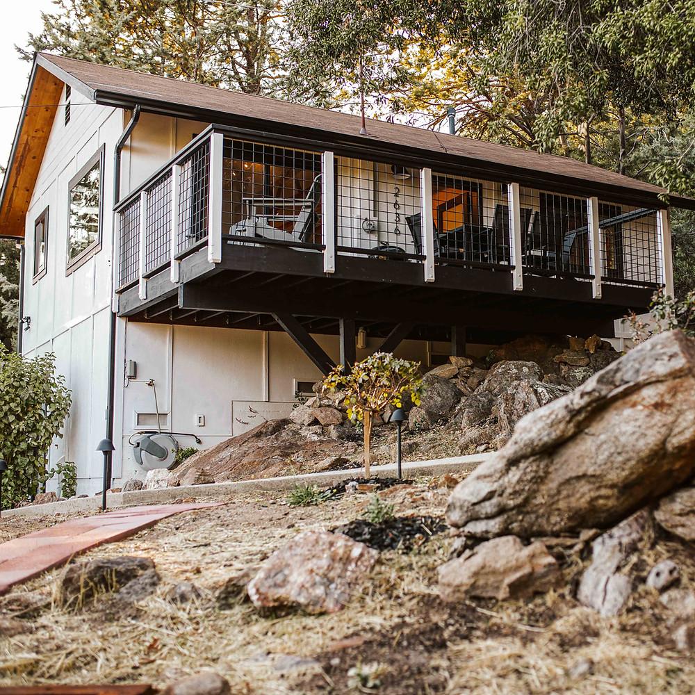 A mountain cabin in Julian, CA.