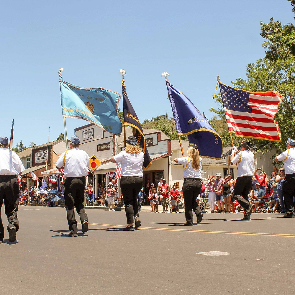 Color Guard at Julian 4th of July Parade-Ways to Get Involved in the Julian Community