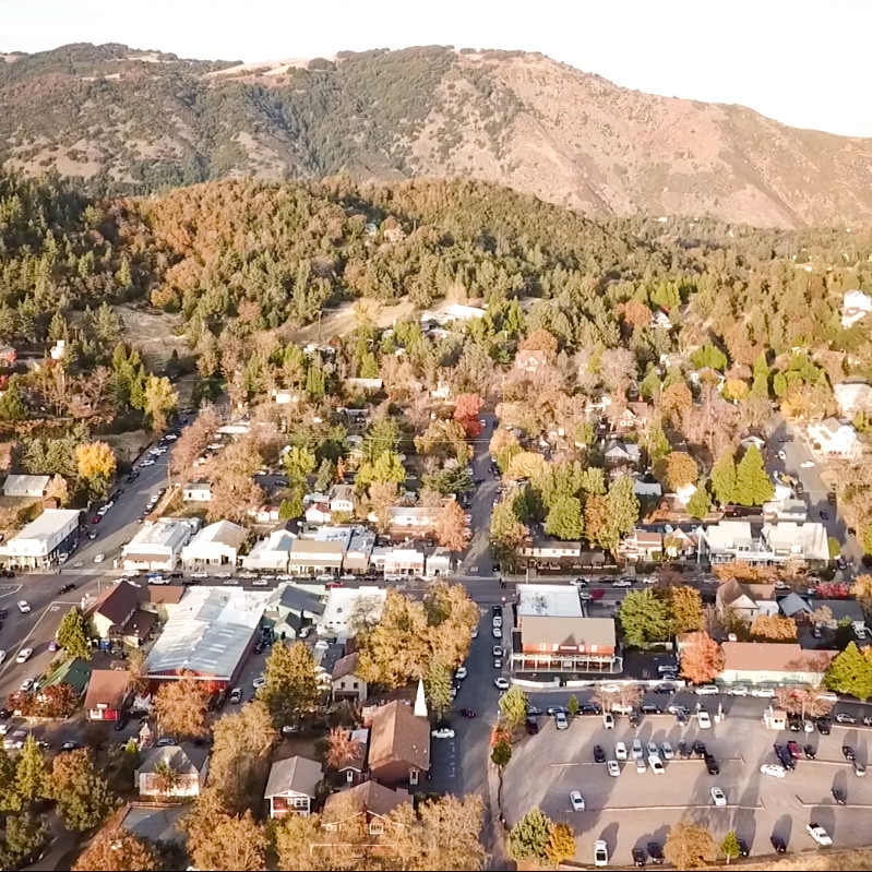 Drone photos of Julian, CA in the fall