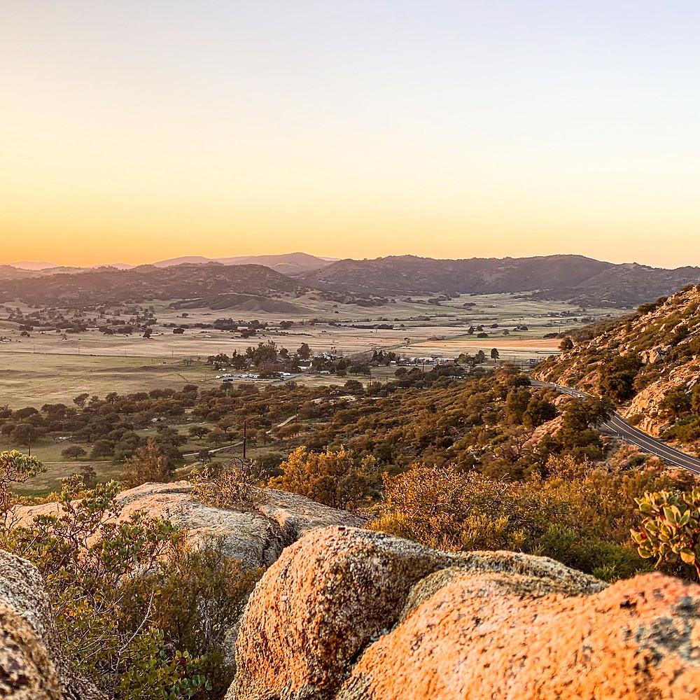 Santa Ysabel valley in San Diego County