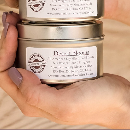 4 oz Desert Blooms Soy Candle Tin