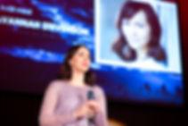 Savannah Stevenson Speaking at an event in Sweden