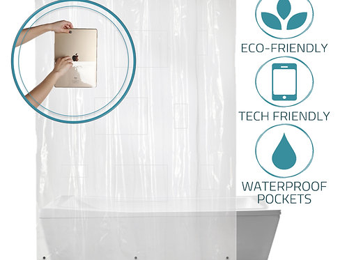 Tech Friendly Shower Curtain Liner