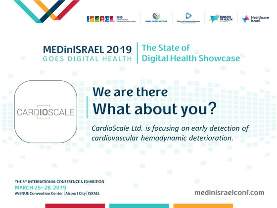 Come see us @ MEDinIsrael2019
