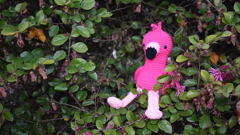 Bekah's Yarn Critters - Flamingo