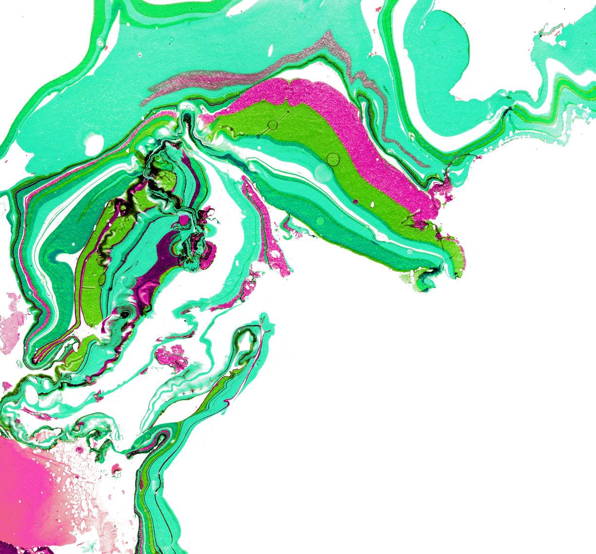 Peinture abstraite vert