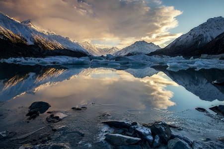 TASMAN LAKE REFLECTIONS