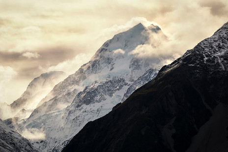 MOUNT COOK, SPINDRIFT