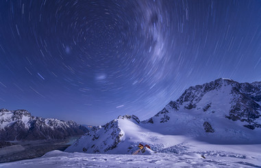 MOUNT COOK, STARTRAIL