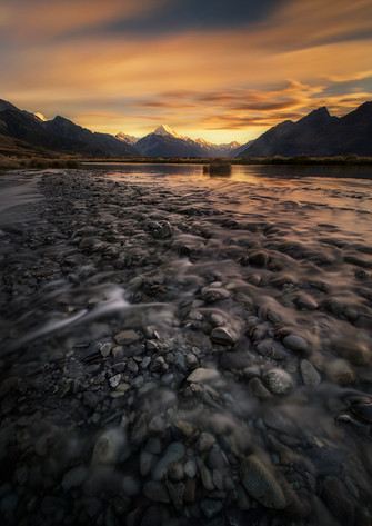 BRAIDED RIVERS, MOUNT COOK