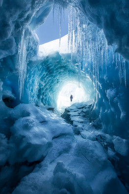 ICE CAVE, TASMAN GLACIER