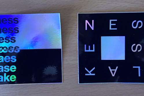 holographic ness lake stickers (set of two)