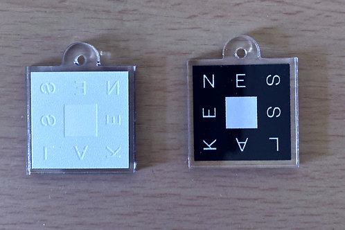 ness lake 'square' charms (set of two)