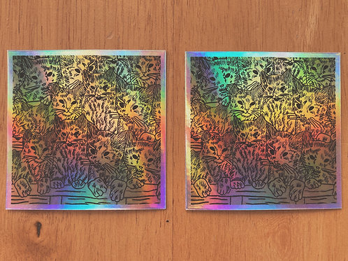 """holographic """"low light"""" stickers (set of two)"""