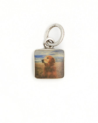 Photo Charm/8mm/Sterling Silver Square with Resin