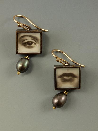 Eye & Mouth Earrings