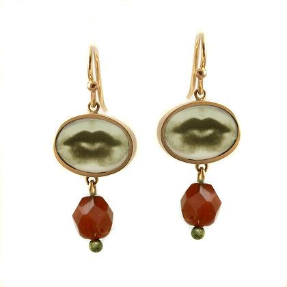 Oval Lips Photo Earrings
