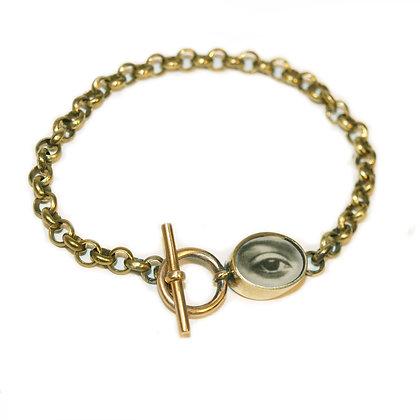 Oval Eye Rolo Chain Photo Bracelet