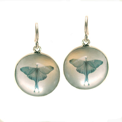Luna Moth Droplet Earrings (ORDER)