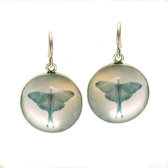 Luna Moth Droplet Earrings (made to order)
