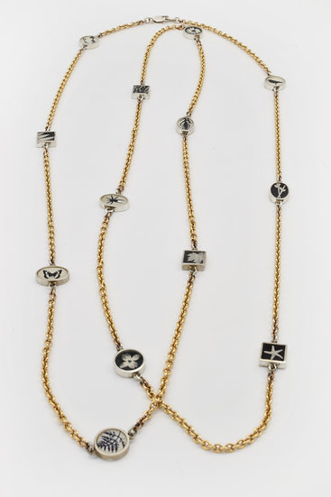 Long Photo Chain Necklace (in stock)/ sterling silver & gold filled