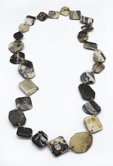 Vintage Photo Tile Collage Necklace  (made to order)