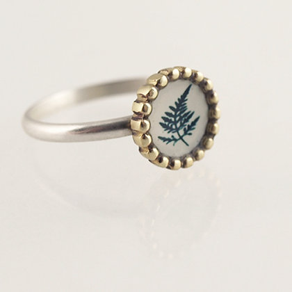 Tiny Fern Photo Ring
