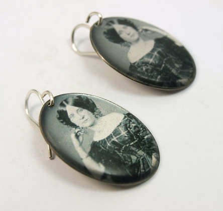 VICTORIAN LADY Portrait Earrings ( IN STOCK)