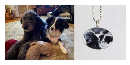 photo pendant with original photo