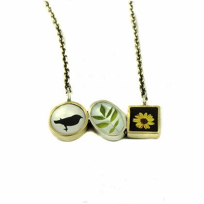 Triple Photo Necklace