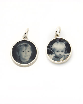DOUBLE SIDED Photo Charm/12mm/Personalized/Sterling Silver