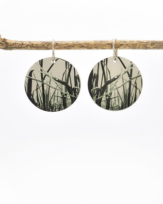 Grasses Photo Earrings (IN STOCK)Sterling Silver