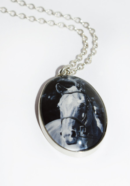 Sterling Photo Pendant with Glass