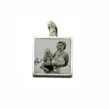 Square Photo Charm/Silver/12mm