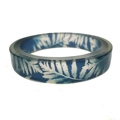 Blue Fern Resin Bangle(ORDER)2 Sizes