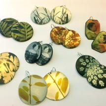 Disc Photo Earrings