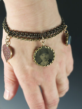 VINTAGE CHARMS Bracelet/IN STOCK