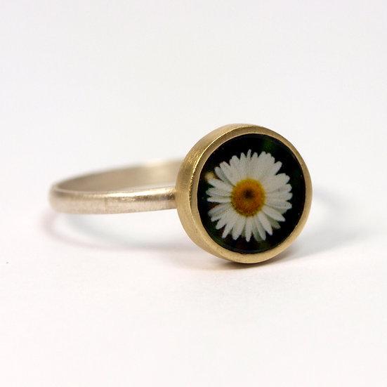 Tiny Color Daisy Photo Ring