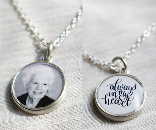 DOUBLE SIDED Photo Charm/Personalized