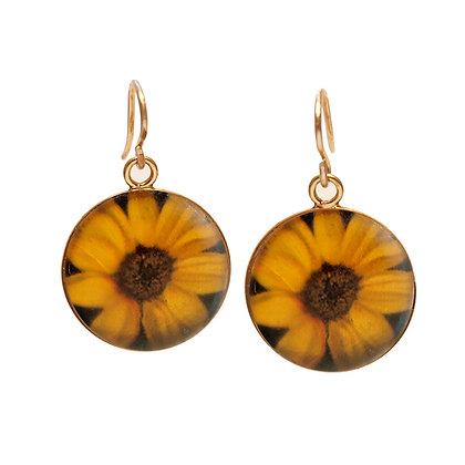 SUNFLOWER Earrings ( IN STOCK)